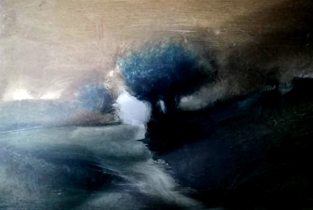 Mélancolie huile sur toile 30x40 cm Patrick Blanchon 2013