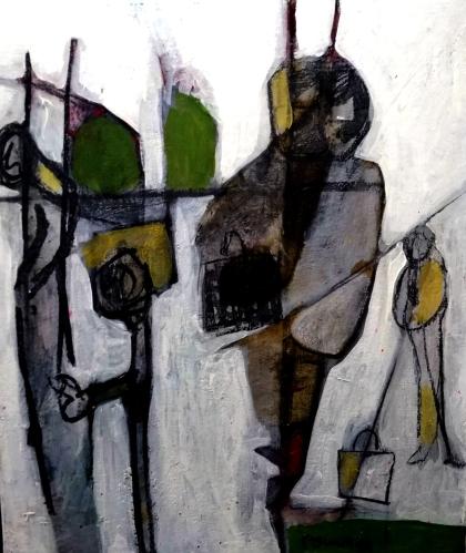 Errances, Parrick Blanchon Acrylique sur toile  format 30x40 cm
