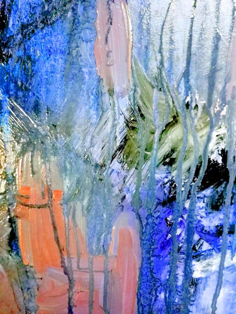 traitement numérique d'une partie de tableau du peintre Patrick Blanchon