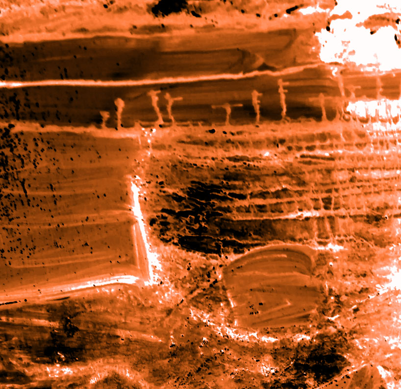 Détail de tableau photographié  et passé à la moulinette numérique Patrick Blanchon