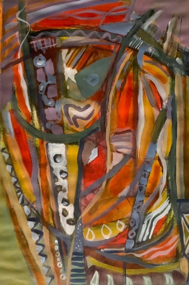 Peinture acrylique sur papier format 30x40 cm Patrick Blanchon 2021