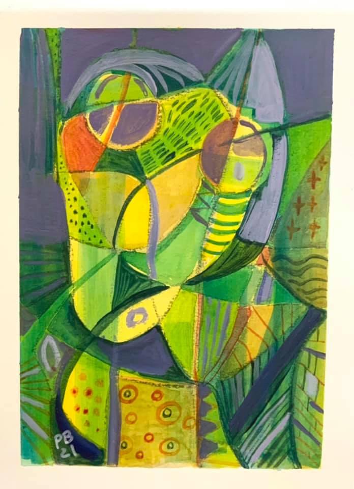 Acrylique sur papier format 24x30 cm Patrick Blanchon 2021