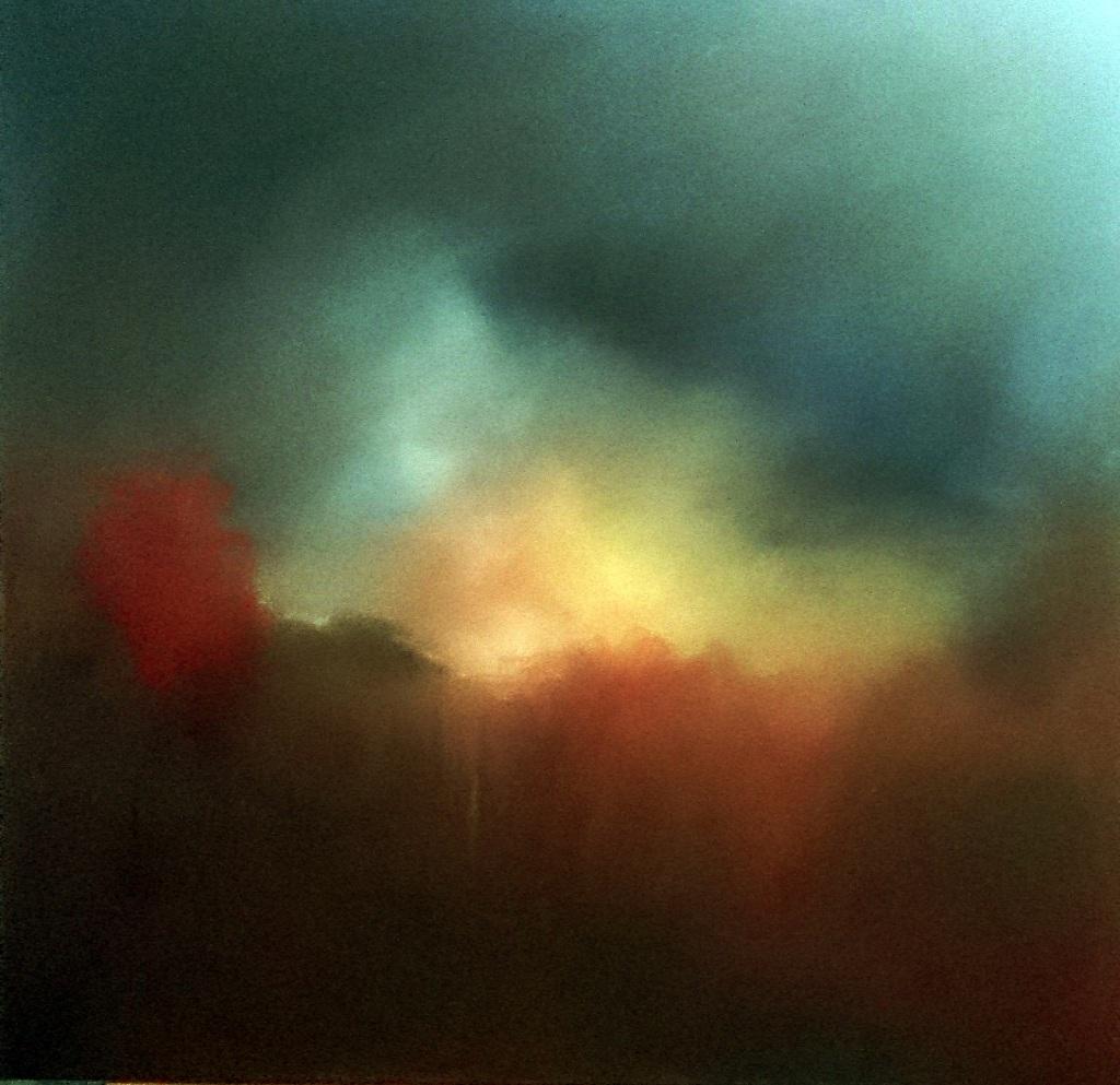 horizon incertain huile sur toile 2017 100x100 cm Patrick Blanchon