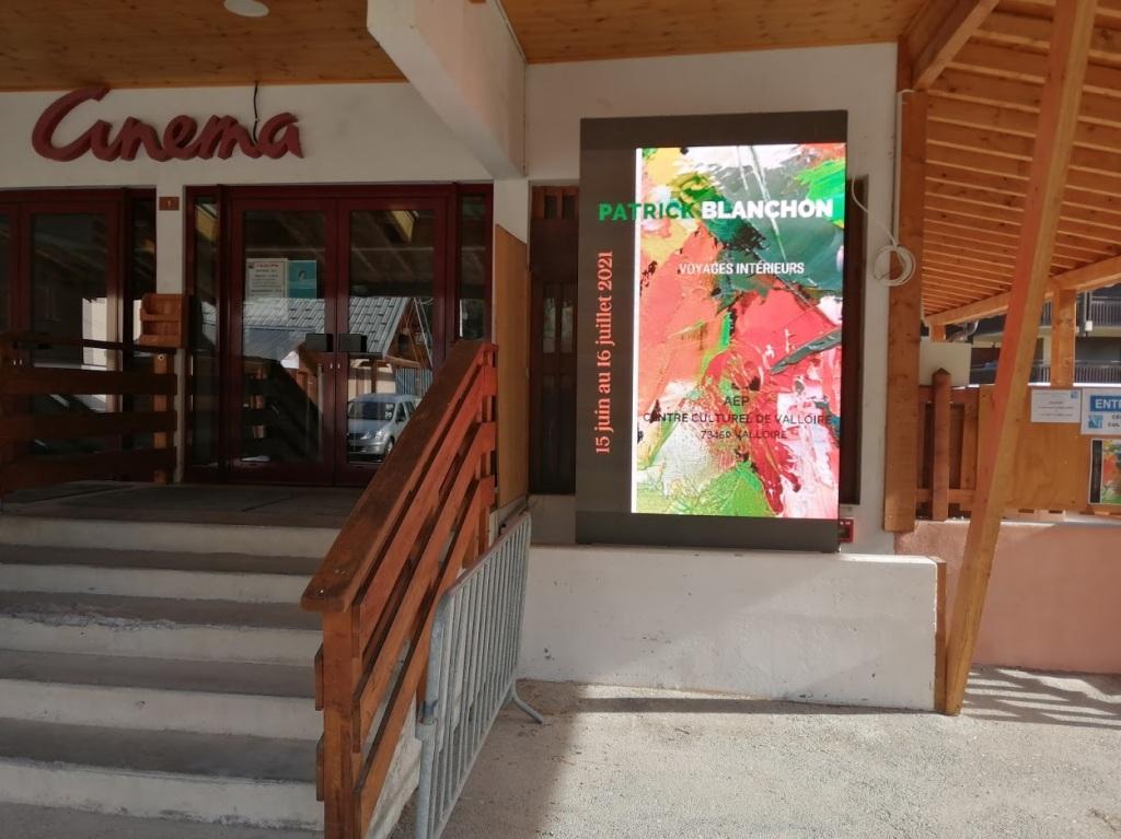 Affiche lumineuse Valloire Savoie Maurienne Patrick Blanchon